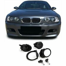 BMW E46 M SPORT & M3 + E39 M SPORT M5 SMOKED FOG LIGHTS + BRACKETS & SURROUNDS