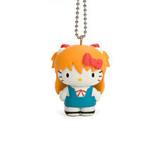 Evangelion X Hello Kitty Asuka Langley School Girl Ver. PVC Figure Keychain