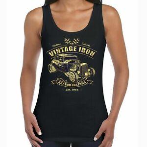 Ladies Hot Rat Rod Vest Vintage Iron Car Garage Vintage Retro Rockabilly 62