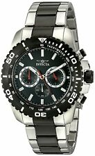 Invicta Men's 19844 Pro Diver Chronograph 47mm Black Dial Steel Watch