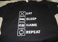 "Mens XXXL ""Eat Sleep Game Repeat"" T-Shirt Brand New Cotton 100%"