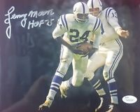 """""""Baltimore Colts Lenny Moore Hand Signed 8 x 10 Autograph W/COA Indianapolis HOF"""