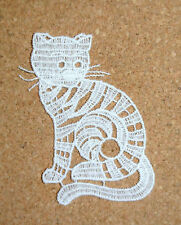 Animals - Cat - sew-on lace motif/applique/patch/craft/card making