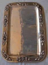 "MACIEL MEXICO STERLING  SILVER HAND HAMMERED BIG & HEAVY  TRAY 18.3/4""- 1100 gr"