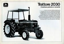 """PUBBLICITA' WERBUNG """"JOHN DEERE-TRATTORE 2030 """" Il trattore potente e versatile"""