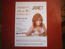 """JANET JACKSON - PLAN MEDIA / PRESS KIT """"THE VELVET ROPES / GO DEEP"""""""