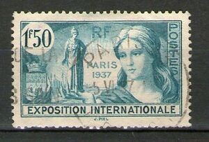 TRES BEAU TIMBRE YVERT N° 336 OBLITERE - PROPAGANDE POUR EXPO INTERNATIONALE