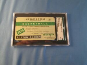 1950-1951 Boston Celtic Pass Ticket SGC  Auerbach/Bob Cousy/Chuck Cooper Debut