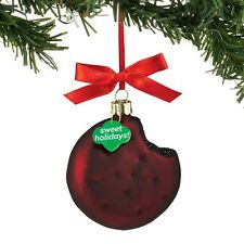 Dept 56 Girl Scout Cookie Ornaments - Thin Mints Cookie Ornament