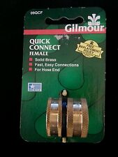 Gilmour 09QCF Quick Female Connect solid brass connection for hose end NWOT