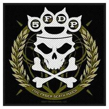 OFFICIAL LICENSED - FIVE FINGER DEATH PUNCH - KNUCKLES CROWN SEW ON PATCH METAL