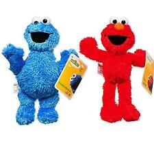 "2pc Elmo and Cookie Monster 8"" Plush Doll Toy Cute Gift Birthday Party Favor"