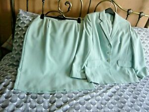 Anne Brooks Petite Debenhams Mint Suit Size 14/16