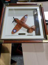 "Spitfire Mk.V Model Built in wood Hand built""Reach for the Sky "" plaque"