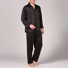 Hombre Satén Seda Pijama suave ropa de descanso Conjuntos Suéter & Pantalones