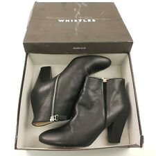 WHISTLES Womens Lucile Ankle Chelsea Boots UK 8 EU 41 Black Leather Zip Genuine
