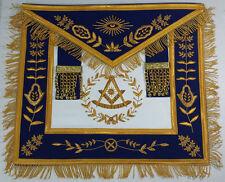Masonic Hand Embroidered Past Master Apron Royal Blue Gold Bullion & Fringe