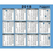 AT - A - GLANCE A4 YEARLY 12 MONTH OFFICE COUNTER DESKTOP HANGING CALENDAR