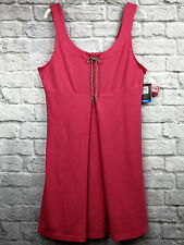 New Eastern Mountain Sports Womens L Knit Tank Dress Firefly Pink Active Travel
