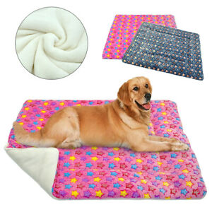 Dog Bed Mat for Small Large Dogs Soft Plush Cushion Kennel Washable Blanket Grey
