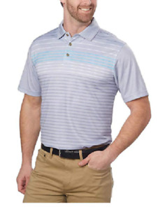 Pebble Beach Men's Dry-Luxe Performance Golf Polo Shirt 3 Front Button M L XL