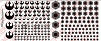 1/18 Scale Tattoos: Star Wars Rebel Alliance and First Order Waterslide Decals