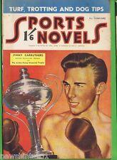 #ZZ. SPORTS NOVELS  MAGAZINE, FEBRUARY 1952, JIMMY CARRUTHERS COVER