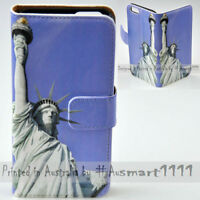 For iPhone X 8 8 Plus - Statue of Liberty Print Wallet Phone Case Cover