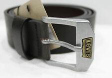 LEVIS Cintura Man Belt Vera Pelle con Fibbia Logo  col Marrone 100 cm