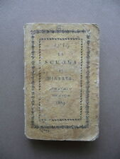 Scuola Minerva Almanacco Genealogico Storico Anno 1819 Milano Astronomia Storia