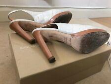 SERGIO ROSSI Leather Slingback Sandals Size 5 UK 38 EU