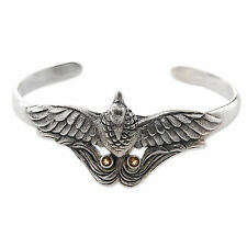 Citrine Cuff Bracelet Sterling Silver Handmade 'bird of Paradise' NOVICA Bali