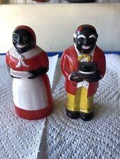 New ListingAntique F & F Plastic Small Ones Salt & Pepper Shakers Black Americana