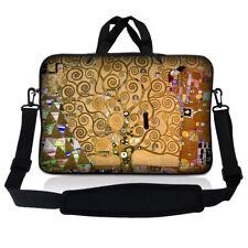 """15.6"""" Laptop Sleeve Bag Case w Shoulder Strap HP Dell Asus Acer Klimt Tree Life"""