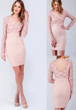 Jane Norman Pink Embellished Lace Bodycon Bandage Sexy Party Dress Sizes 6 to 18