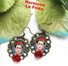 Frida Kahlo earrings mexico folk altere art day of the dead dia de los muertos !