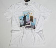 Nuovo All Star Converse T-Shirt Uomo Maglietta Mandrini Bianco TG. M 18 #231