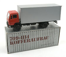 Vintage NZG (West Germany) 1/50 Red Mercedes-Benz Box Truck No.250 *NMIB*