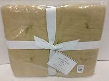 Pottery Barn Cotton Silk Jersey Standard bed pillow cover Sham tufted Carmel NEW