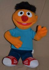 "13"" Ernie Sesame Street Plush Doll Stuffed Toy Guitar Blue Shirt"