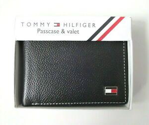 BRAND NEW Men's Tommy Hilfiger Bi-fold Card Holder/Coin Pouch Wallet, Large Logo