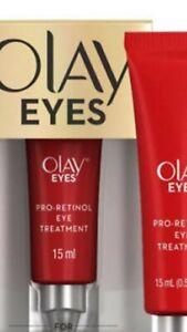 Olay Eyes Pro-Retinol eye treatment Crows feet Full sz  15mlNew In Box