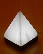 Salt Lamp White USB Pyramid W/B Himalayan Ionizing Led Light Colour Therapy