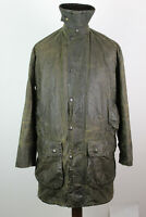 BARBOUR Border Olive Wax Jacket size 97Cm/38In