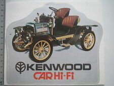 Adesivo sticker KENWOOD-Car Hi-Fi-AUDIO HIGH END Oldtimer Retro (m1595)