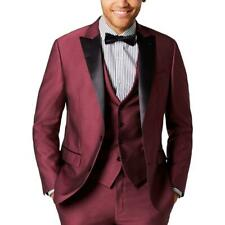 Ryan Seacrest Distinction Mens Prom Satin Trim Tuxedo Jacket Blazer BHFO 1422