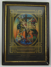 Antique Druck & Verlag TAKING JESUS DOWN FROM CROSS Hand-Colored Litho Print