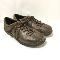 Born Handcrafted Womens Size 8.5/40 Brown Leather Lace Up Oxford Shoes