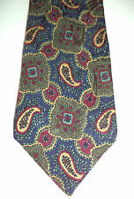 Liberty of London Delightful Blue Red Yellow Floral Paisley Silk Neck Tie