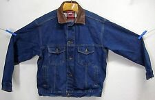 MARLBORO COUNTRY STORE MEN'S (M) INDIGO BLUE JEAN JACKET METAL BUTTON LEATHER